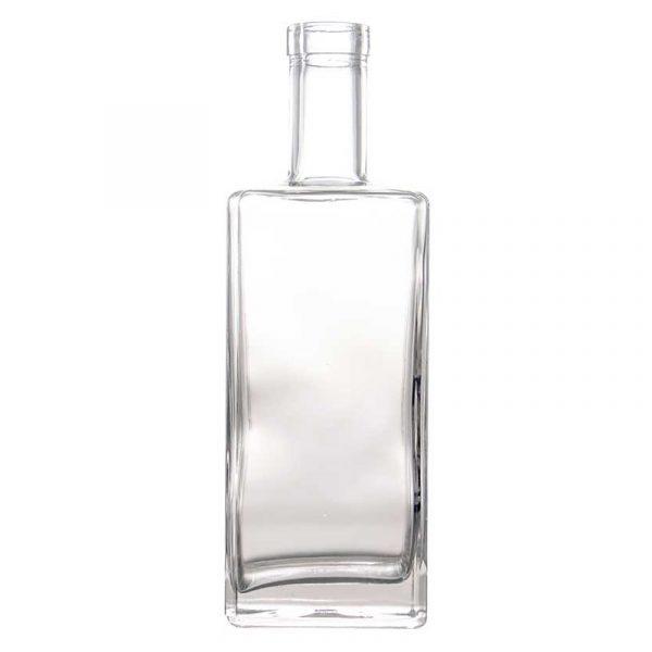 750ml Square Gin bottle